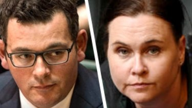 Daniel Andrews and Jane Garrett.