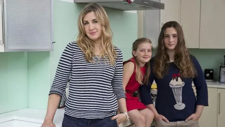 Tanith Carey with family.