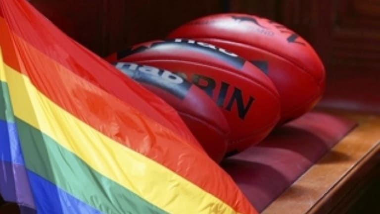 Anti-gay marriage protesters have targeted the AFL's first Pride game between St Kilda and Sydney.
