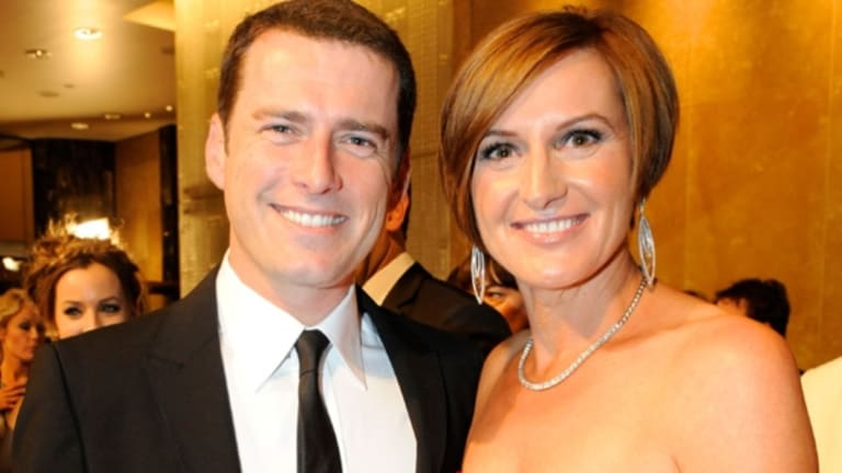 Stefanovic with Cassandra Thorburn at the 2011 TV Week Logie Awards.