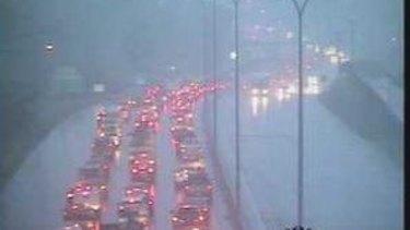 Traffic on the Gateway Motorway.