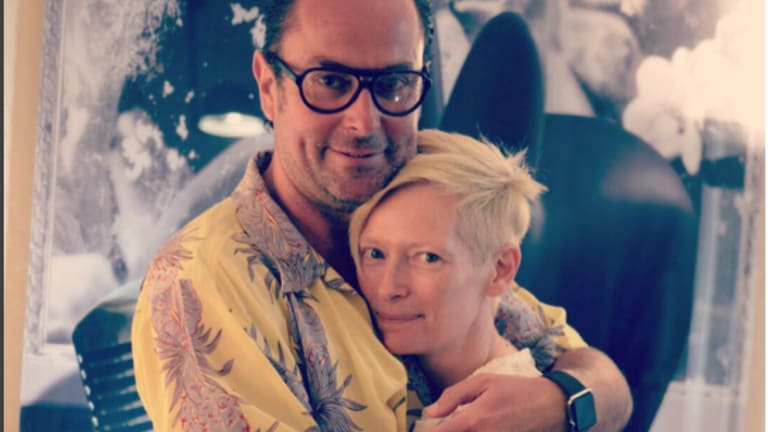 Christophe Robin with Tilda Swinton.