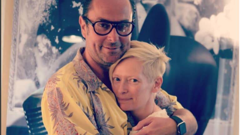 Christophe Robin with Tilda Swinton.