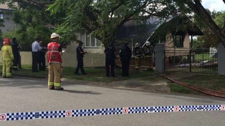 A crime scene has been established after a fatal house fire on Brisbane's south side.