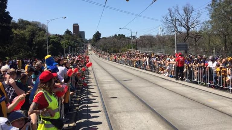 Fans flocked to the city on the public holiday.