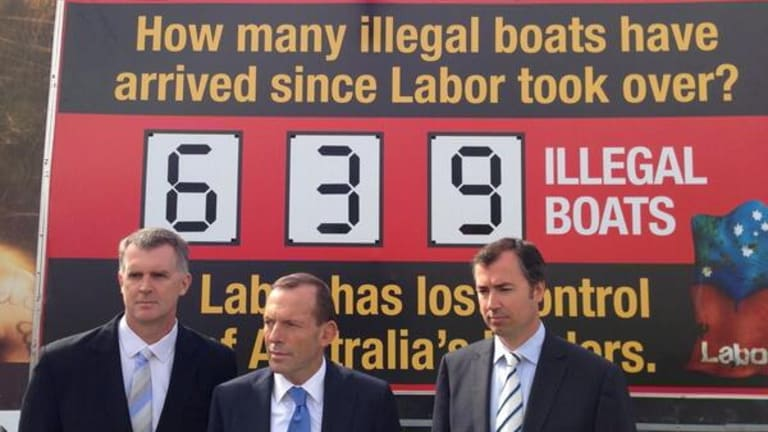 """Doubts have been raised whether Tony Abbott """"stopped the boats""""."""