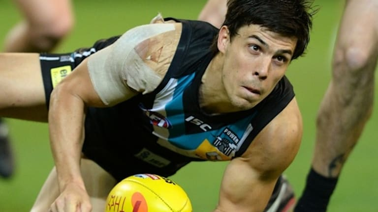 Compensation: Port Adelaide will receive salary cap relief for suspended ex-Don Angus Monfries
