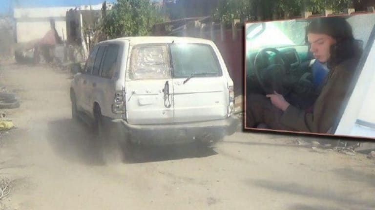 What's thought to be the van Bilardi was driving when he triggered an explosion and died in a suicide attack.