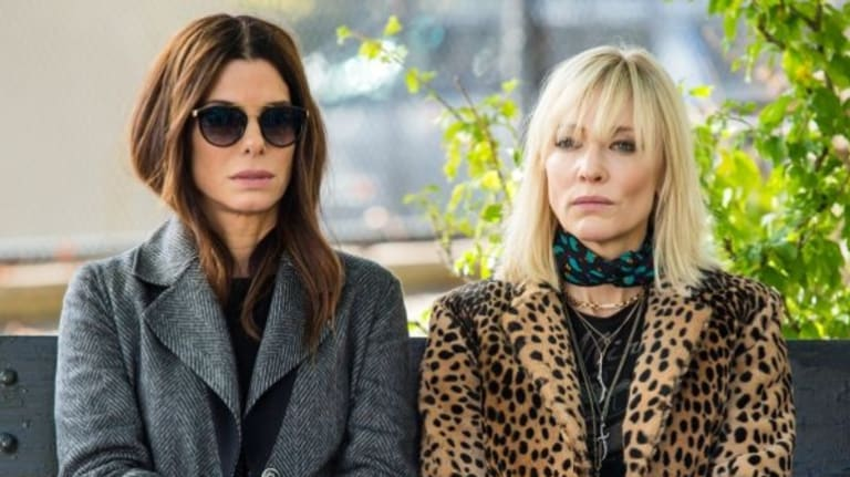 Sandra Bullock and Cate Blanchett are seen filming 'Ocean's 8' on October 31, 2016 in Queens borough of New York City.