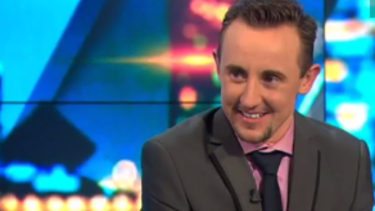 'I'm the real me, I'm loving it, life is good': Andrew Guy on Channel Ten's <i>The Project</i>.