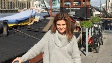 Slain British MP Jo Cox in an image posted by her husband Brendan.