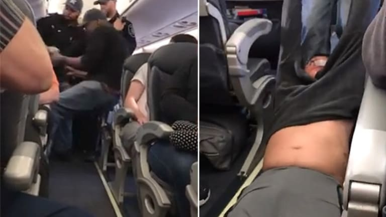 United Airlines tried to play down the incident as an 'involuntary deboarding'.