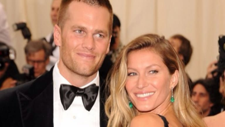 Brady, with wife Gisele Bundchen, claims he is so hydrated the muscles under his skin must look like 'beautiful tenderloins'.