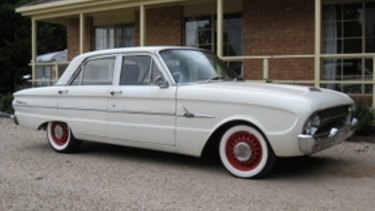 A vehicle similar to the 1963 Ford Falcon used by Mr Lamont.