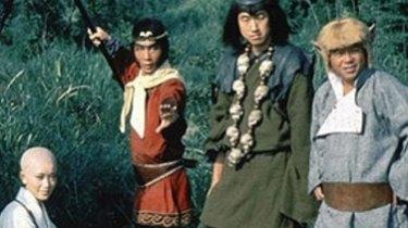 The original cast of <i>Monkey Magic</i>.