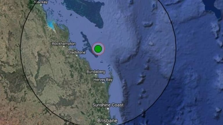 Earthquake strikes off Queensland coast, near Bowen. Only this quake, off Gladstone, was stronger.