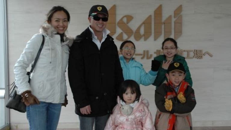 Matthew Ng with his wife Niki Chow and children Megan, 12, Isabella, 13, Alexandra, 5, and Hugo, 8.