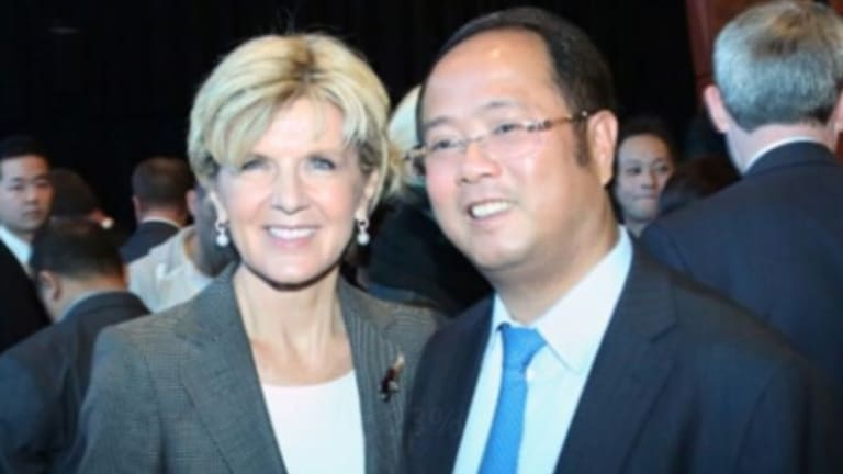Huang Xiangmo with Foreign Minister Julie Bishop.