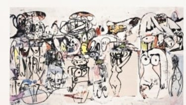 Celebrity artist George Condo's Invocations of Miles (2000).