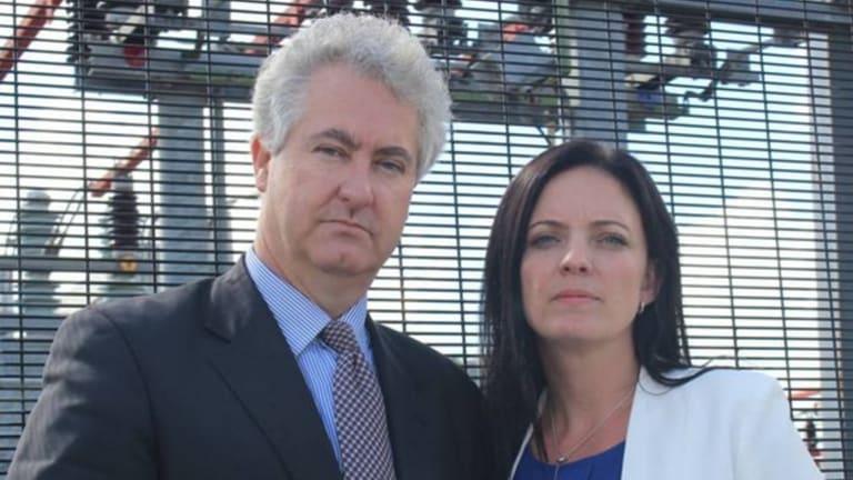 Labor MP Adam Searle MLC with Emma Husar.