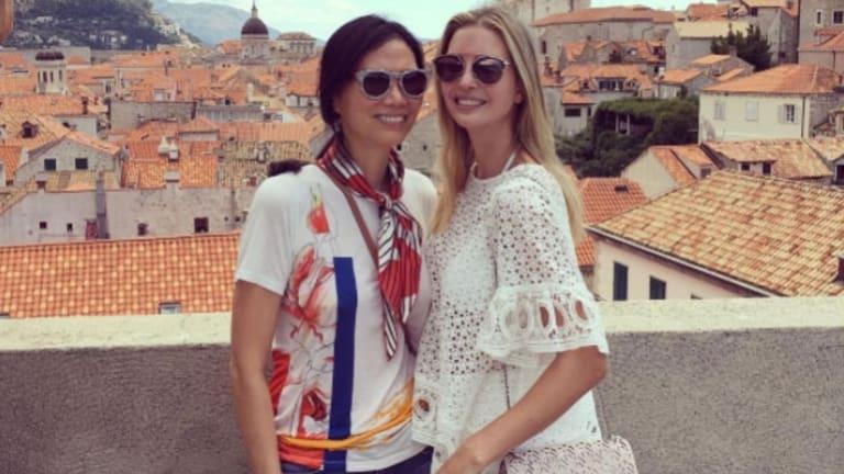 Wendi Murdoch and Ivanka Trump on holiday in Croatia.