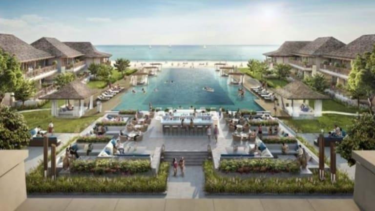An artist's impression of the Great Keppel Island resort development.
