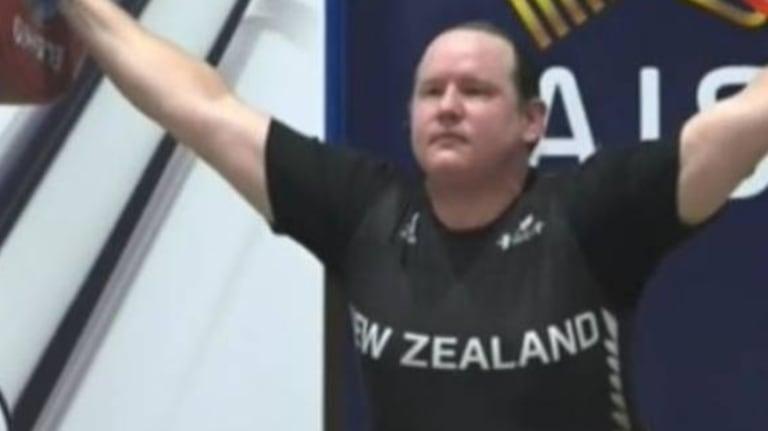 NZ transgender weightlifter Laurel Hubbard.