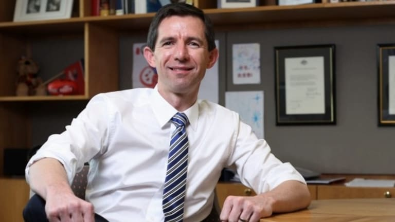 Education Minister Simon Birmingham warns that higher education costs have grown dramatically over recent years.