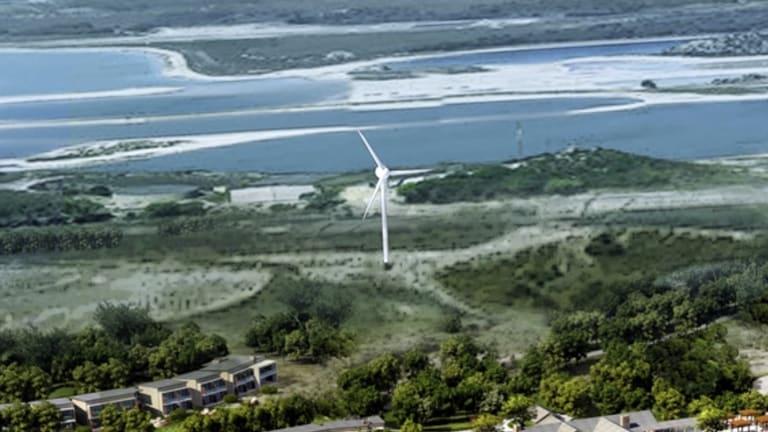 The wind turbine on Rottnest Island