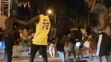 There was another brawl in the early hours of the morning on Thursday at St Kilda foreshore.