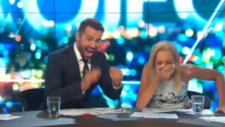 """Carrie Bickmore was left mortified after the gaffe Daniel MacPherson later dubbed """"breastgate""""."""