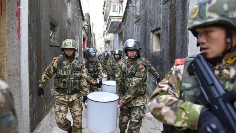 Heat on 'ice': Police raids in Boshe in December 2013.