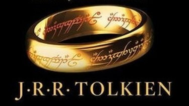 "The ""ring of power"" as depicted of the cover of J.R.R.Tolkien's Lord of the Rings."