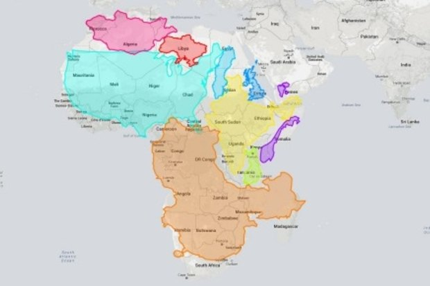 Interactive map tool shows the true size of the world\'s ...