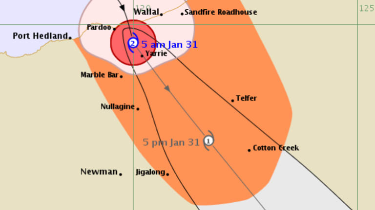 Tropical cyclone Stan weakened to a category two after it crossed the WA coast near Port Hedland.
