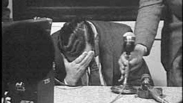 Thorne on TV after appealing for Graeme's return.
