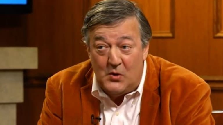 "Stephen Fry has caused a social media furore after he said in a US interview that victims of rape should ""grow up"" and not feel sorry for themselves."