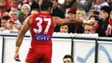 Adam Goodes calls out racism in 2013.