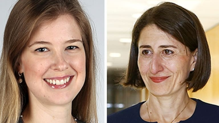 You asked: Economics writer Jessica Irvine and premier Berejiklian