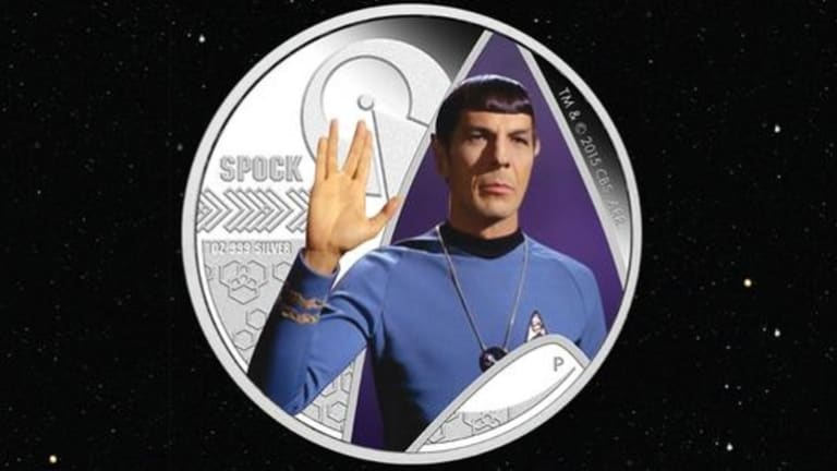 Spock's famous salute will live on... in cold, hard cash.