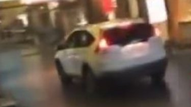 Mobile phone footage of the car used in the CBD rampage.