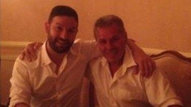 Councillor Ristevski with Tony Atanasovski, celebrating ''The Falcon's'' birthday.