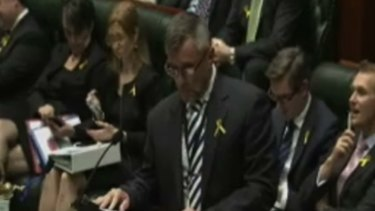"MP Glenn Brookes challenged Luke Foley to ""take it outside""."