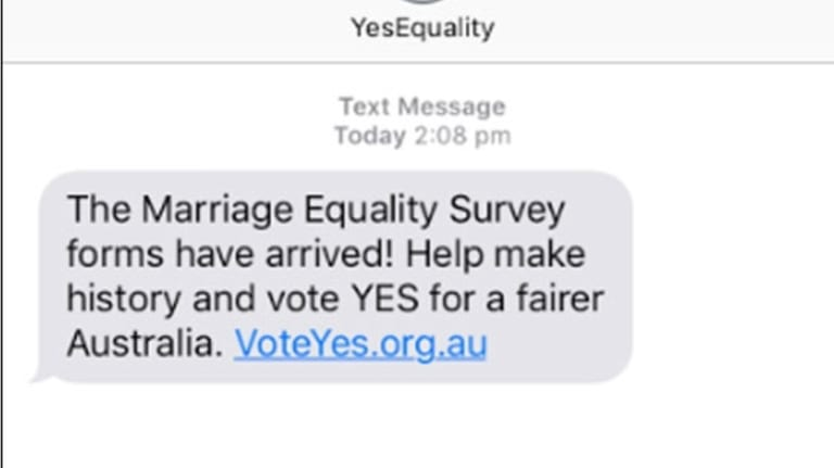 "The text message sent to thousands of Australians on Saturday have caused ""faux"" outrage."