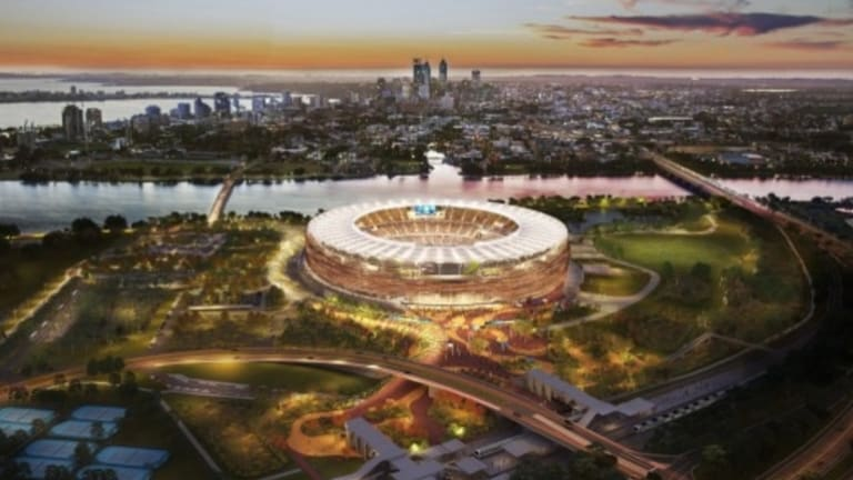 The new $1.2 billion Perth Stadium, currently under construction