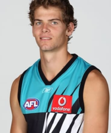 Hugh Minson when he was drafted with Port Adelaide.