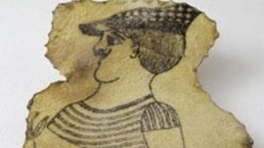 A tattoo on a piece of human skin from the late 19th century. Wellcome Library, London.