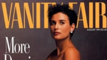 <i>Vanity Fair</i>'s August 1991's cover, featuring Annie Liebowitz's photo of a seven-months-pregnant Demi Moore, caused a scandal.