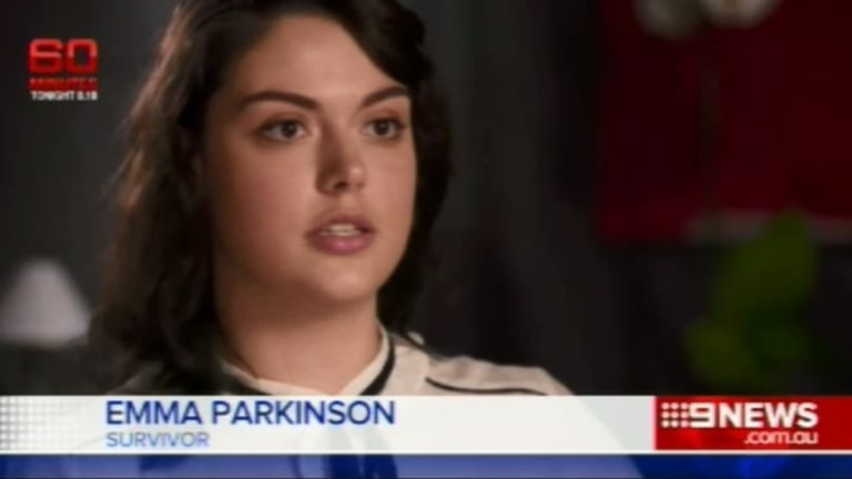 """""""They were targeting young people who were having fun and laughing. And being happy. What young people do"""": Emma Parkinson, the Australian injured in the Paris attacks."""