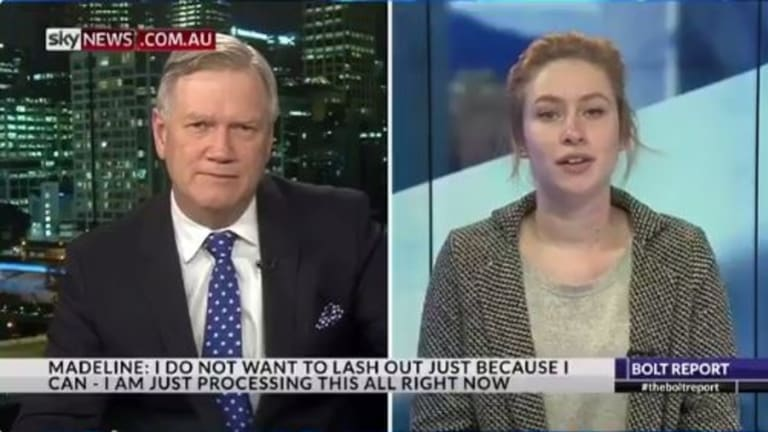 Madeline, who was fired for saying she would vote 'no' in the same-sex marriage survey, hit back on Tuesday.